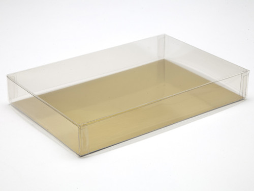 180x120x27 Rectangular Transparent Base and Lid - Clear | MeridianSP