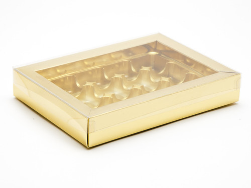 12 Choc Buffer Base and PVC Lid - Gold | MeridianSP