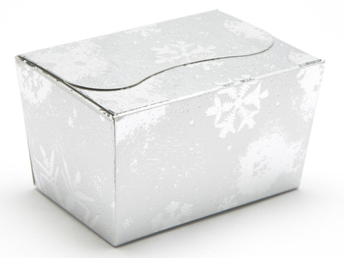 125g Ballotin - Silver Snowflake | Meridian Speciality Packaging