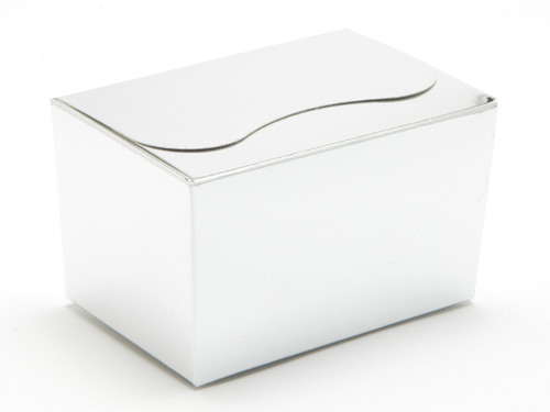 125g Ballotin - Bright Silver | Meridian Speciality Packaging