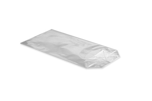 100x175 Crossed Bottom Film Bag - Clear | MeridianSP