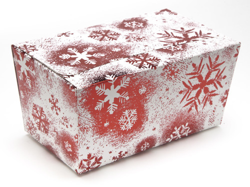 1000g Ballotin - Red and White Snowflake | Meridian Speciality Packaging