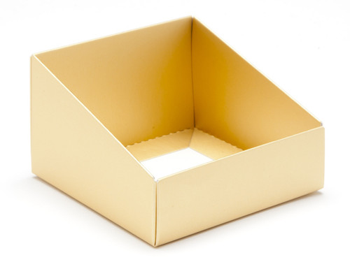 Matt Gold Angled Base for Small Tapered Transparent Carton | MeridianSP