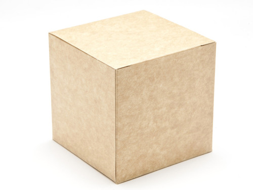 80mm Cube Carton - Natural Kraft | Meridian Speciality Packaging
