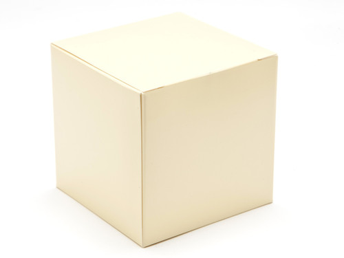 80mm Cube Carton - Cream | MeridianSP