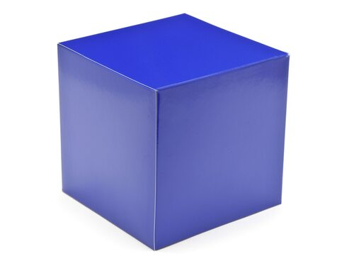 80mm Cube Carton - Blue | Meridian Speciality Packaging