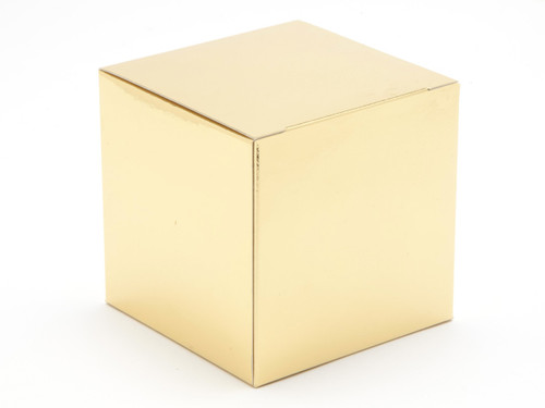 80mm Cube Carton - Bright Gold | Meridian Speciality Packaging