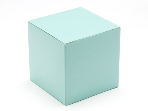 80mm Cube Carton - Aqua | Meridian Speciality Packaging