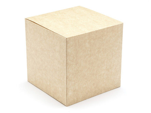 60mm Cube Carton - Natural Kraft | MeridianSP