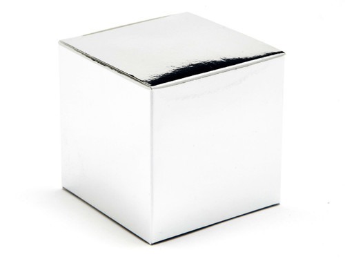 60mm Cube Carton - Bright Silver | Meridian Speciality Packaging