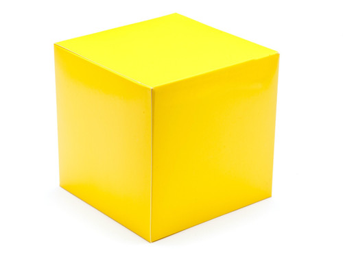 120mm Cube Carton - Sunshine Yellow | Meridian Speciality Packaging