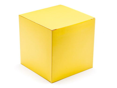 120mm Cube Carton - Buttermilk Yellow | Meridian Speciality Packaging