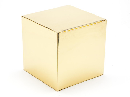 120mm Cube Carton - Bright Gold | Meridian Speciality Packaging