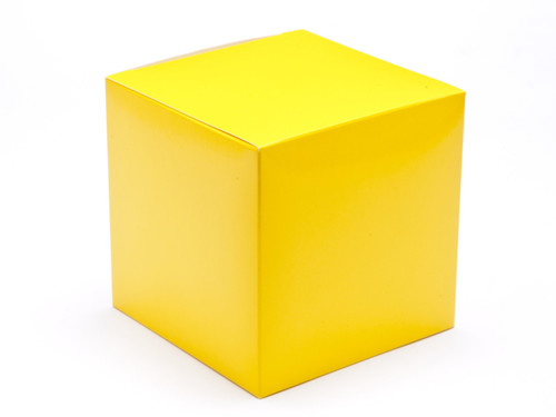 100mm Cube Carton - Sunshine Yellow | Meridian Speciality Packaging