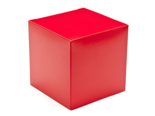 100mm Cube Carton - Red | MeridianSP