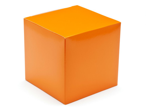100mm Cube Carton - Orange | Meridian Speciality Packaging