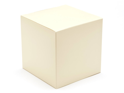 100mm Cube Carton - Cream | Meridian Speciality Packaging