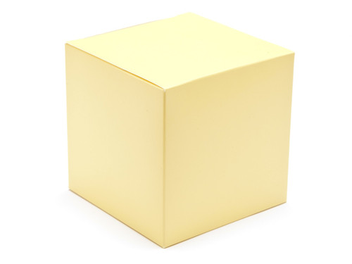 100mm Cube Carton - Buttermilk Yellow | Meridian Speciality Packaging