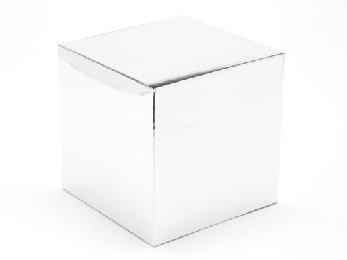 100mm Cube Carton - Bright Silver| MeridianSP