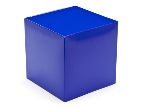 100mm Cube Carton - Blue | MeridianSP