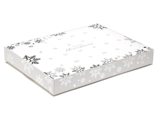 Snowflake Premium Light Advent Calendar sized  - Fill it Yourself Advent Calendar Box Ideal for the festive season