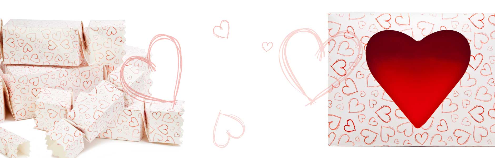 Introducing a brand new Light Hearts design across a range of our gift packaging