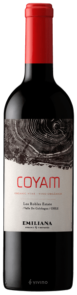 Emiliana Coyam Red Blend Colchagua Valley Chile 2015