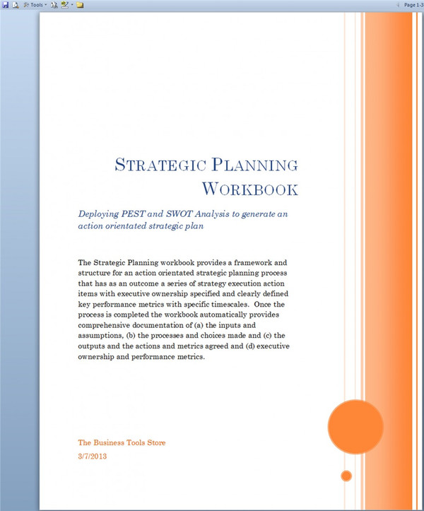 Strategic Planning Workbook