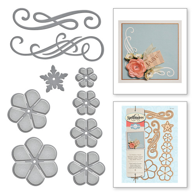 Shapeabilities Amazing Paper Grace Cinch and Go Flowers Etched Dies