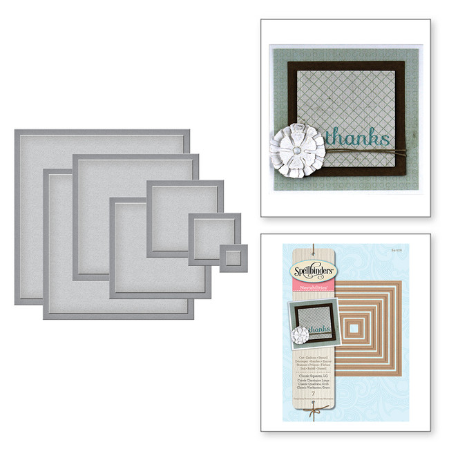 Nestabilities Classic Squares LG Etched Dies