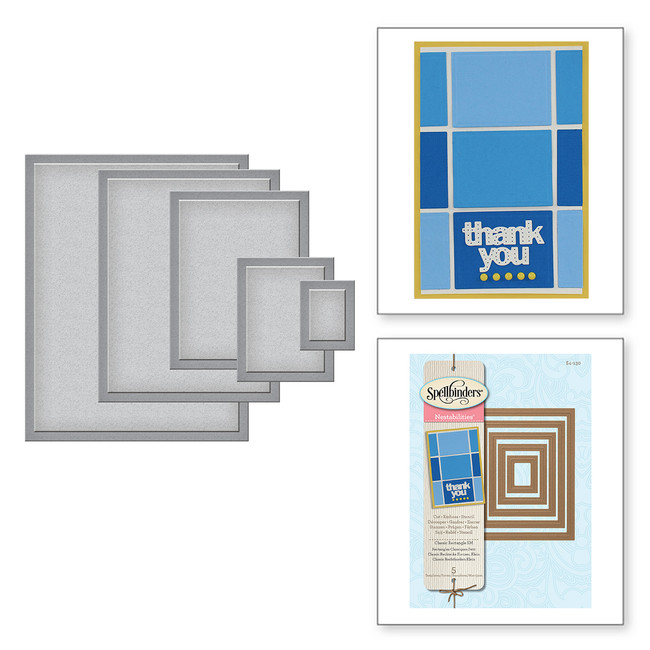 Nestabilities Classic Rectangles SM Etched Dies