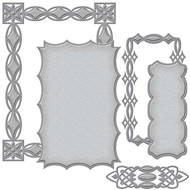 Card Creator Renaissance Jeweled Frame Etched Dies