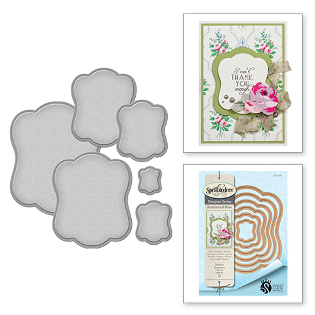 Nestabilities Stacey Caron Botanical Bliss Label 54 Etched Dies (S4-636)