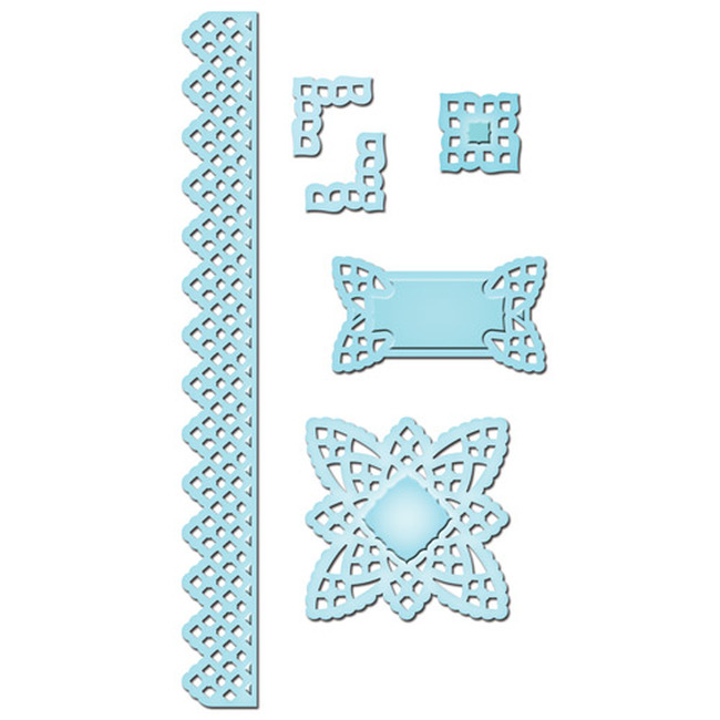 Shapeabilities Lace Doily Accents Etched Dies