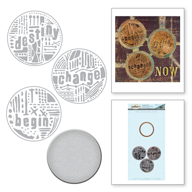 Seth Apter Word Circles 1 Stamp & Die Set