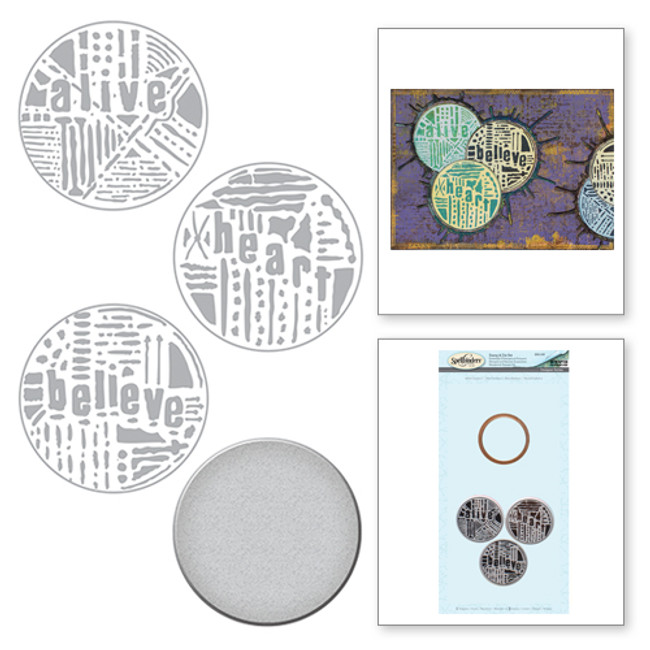 Seth Apter Word Circles 2 Stamp & Die Set