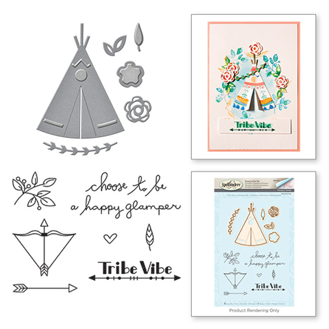 Tribe Vibe Wild & Free by Debi Adams Stamp & Die Set