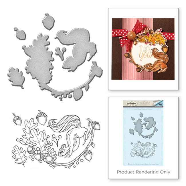 Squirrel Stamp and Die Set  from the Earth Air Water Collection by Stephanie Low