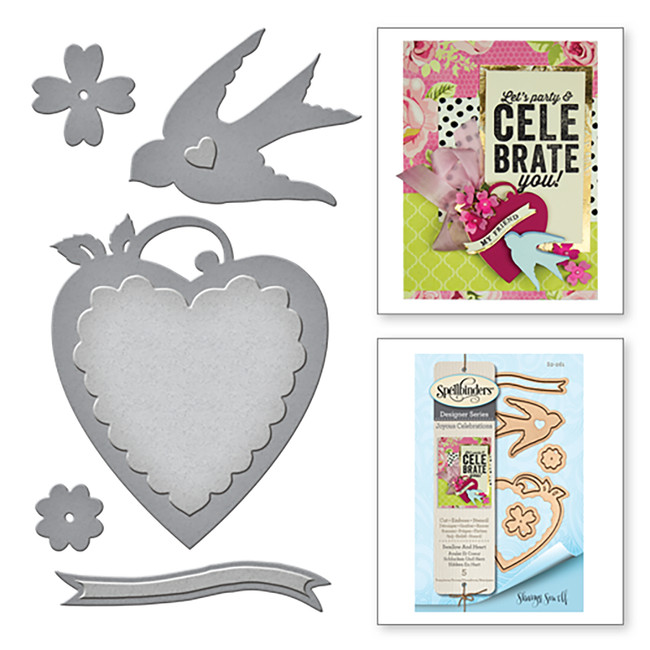 Shapeabilities Swallow and Heart Etched Dies from the Joyous Celebrations Collection by Sharyn Sowell