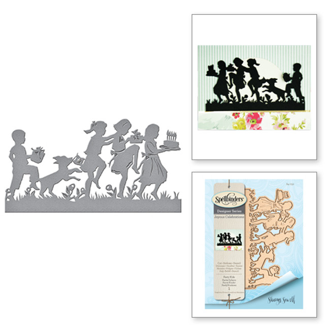 Shapeabilities Party Kids Etched Dies from the Joyous Celebrations Collection by Sharyn Sowell