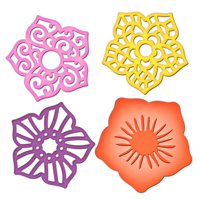 Shapeabilities Layered Flowers Etched Dies