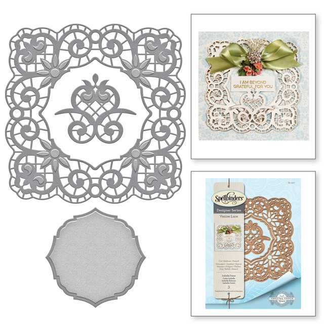 Shapeabilities Isabella Frame Etched Dies Venise Lace by Becca Feeken