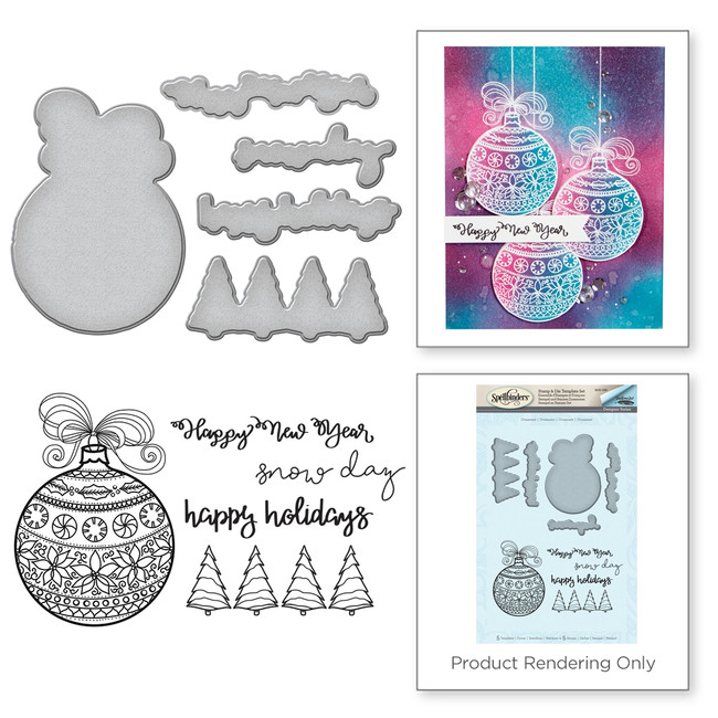 Happy Holiday Ornaments Holiday 2017 by Stephanie Low Stamp & Die Set