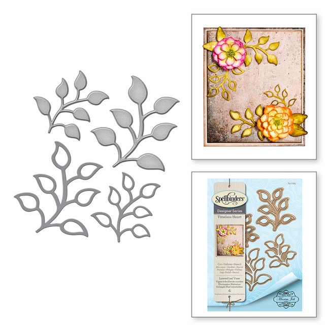 Shapeabilities Layered Leaf Vines Etched Dies Timeless Heart Collection by Marisa Job