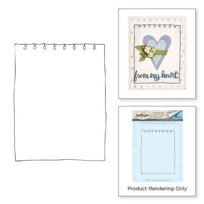 Notebook Border Stamp Set Happy Grams #4 Collection by Tammy Tutterow