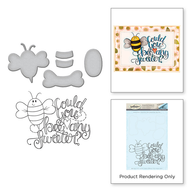 Bee Any Sweeter Stamp & Die Set Happy Grams #4 Collection by Tammy Tutterow