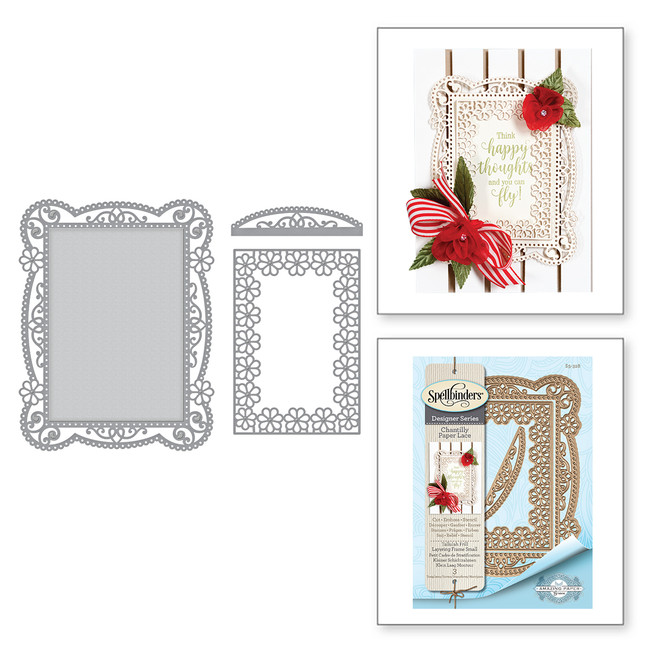 Shapeabilities Tallulah Frill Layering Frame Small Etched Dies Chantilly Paper Lace Collection by Becca Feeken