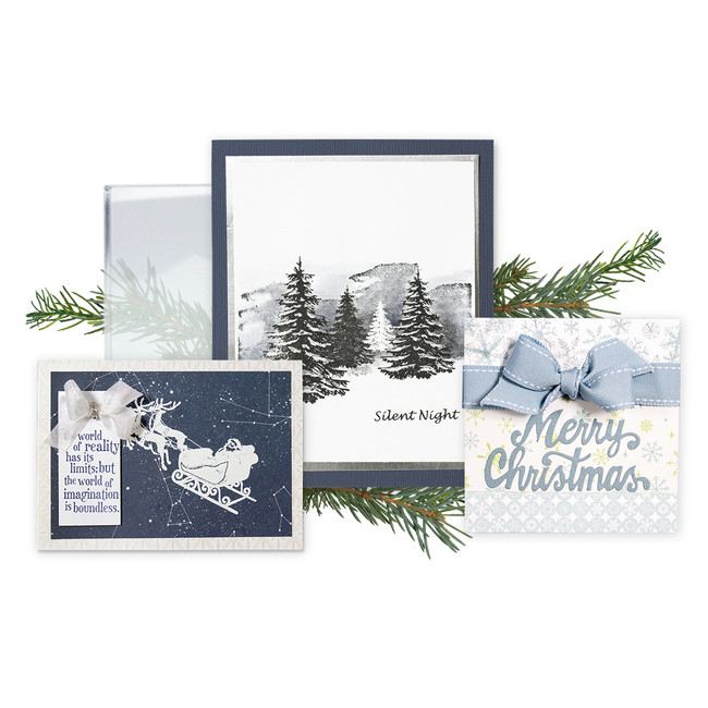 Four Piece  Holiday 3D Shading Stamp Bundle