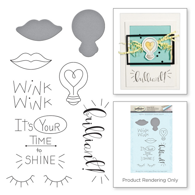 Wink Wink Love Set Match by Debi Adams Stamp and Die Set