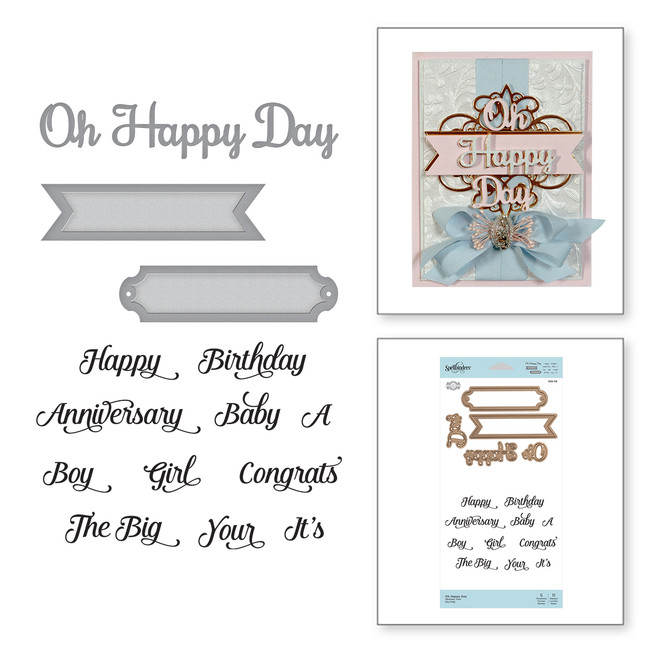 Oh Happy Day Elegant 3D Vignettes by Becca Feeken Stamp and Die Set